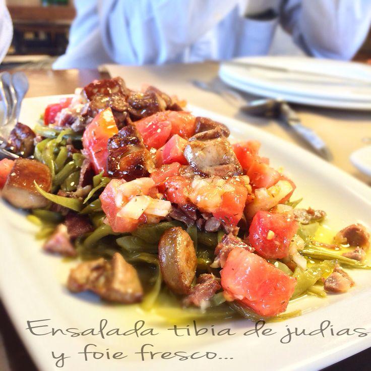 Ensalada tibia de judías y foie fresco #lahuertadetrabanco #producto #calidad #km0