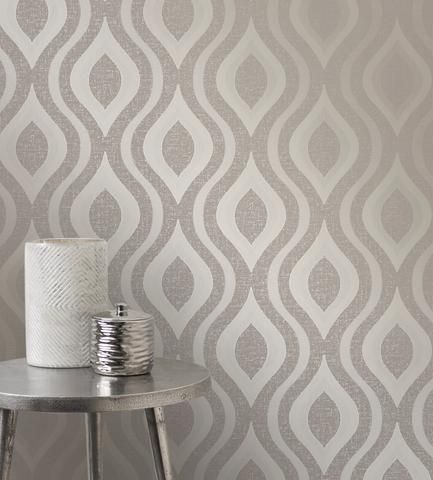 Fine Decor Wallpaper | Quartz Wave Mink | FD41978