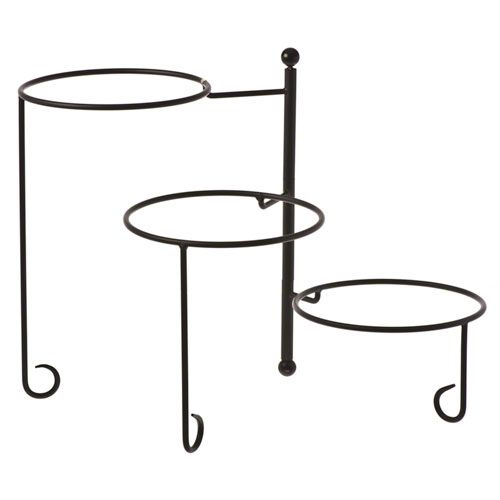 "American Metalcraft (TTRS3) - 16-1/2"" 3-Tier Wrought Iron Stand w/Curled Feet 