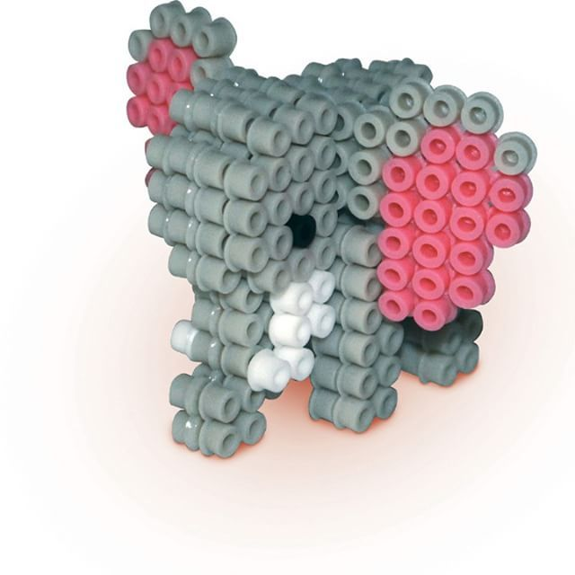 3D Elephant perler beads - sescreative