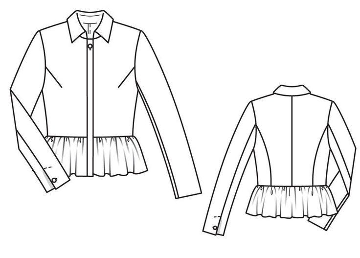 Блузка - выкройка № 115 из журнала 9/2013 Burda – выкройки блузок на Burdastyle.ru