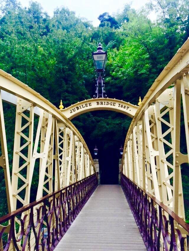 Jubilee Bridge, Matlock Bath, Derbyshire
