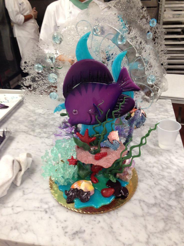 Final sugar work pieces Underwater theme 2014