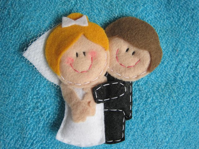 felt newlyweds