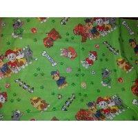 Lenjerii de pat copii Paw Patrol verde 140x210