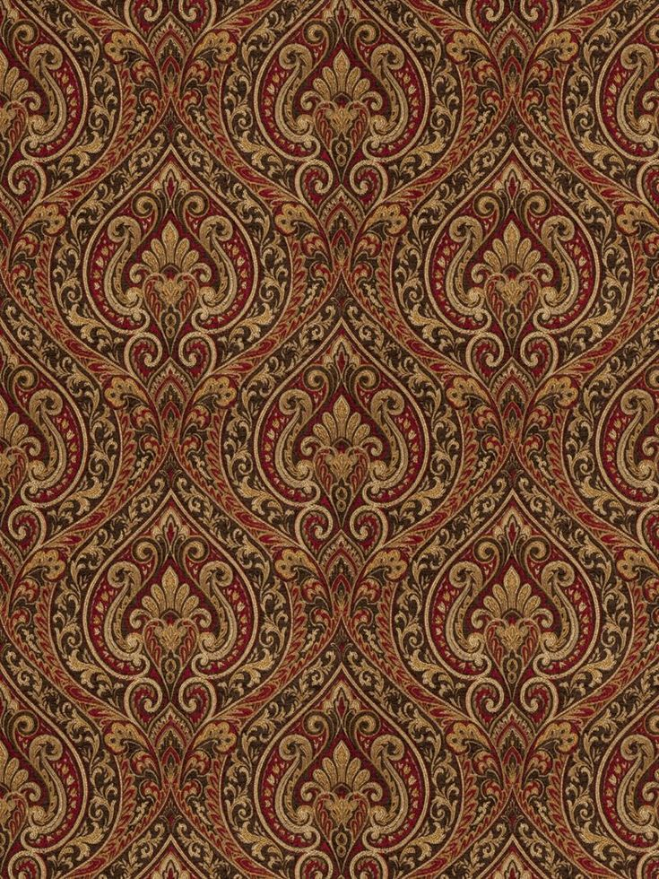 Magnificent jacquard pattern ruby drapery and upholstery fabric by Fabricut. Item 5781202. Low prices and free shipping on Fabricut fabrics. Strictly 1st Quality. Search thousands of designer fabrics. Width 56 inches. Swatches available.