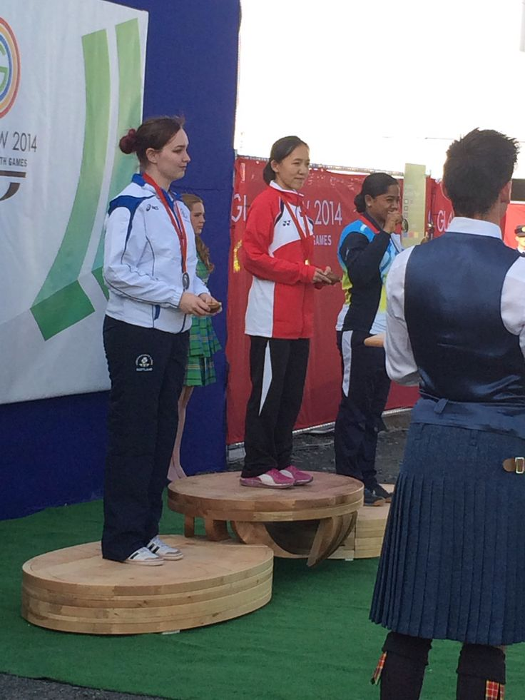 Silver for Scotland. Jen McIntosh claims her medal for three positional Shooting at the Commonwealth Games, Glasgow 2014.