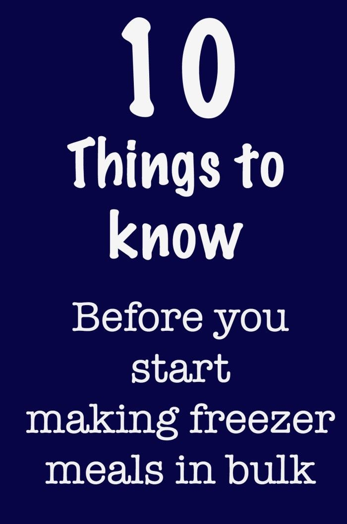 10 Things to Know Before You Start Freezer Cooking - don't make 50 freezer meals before you read these tips! | Make the Best of Everything