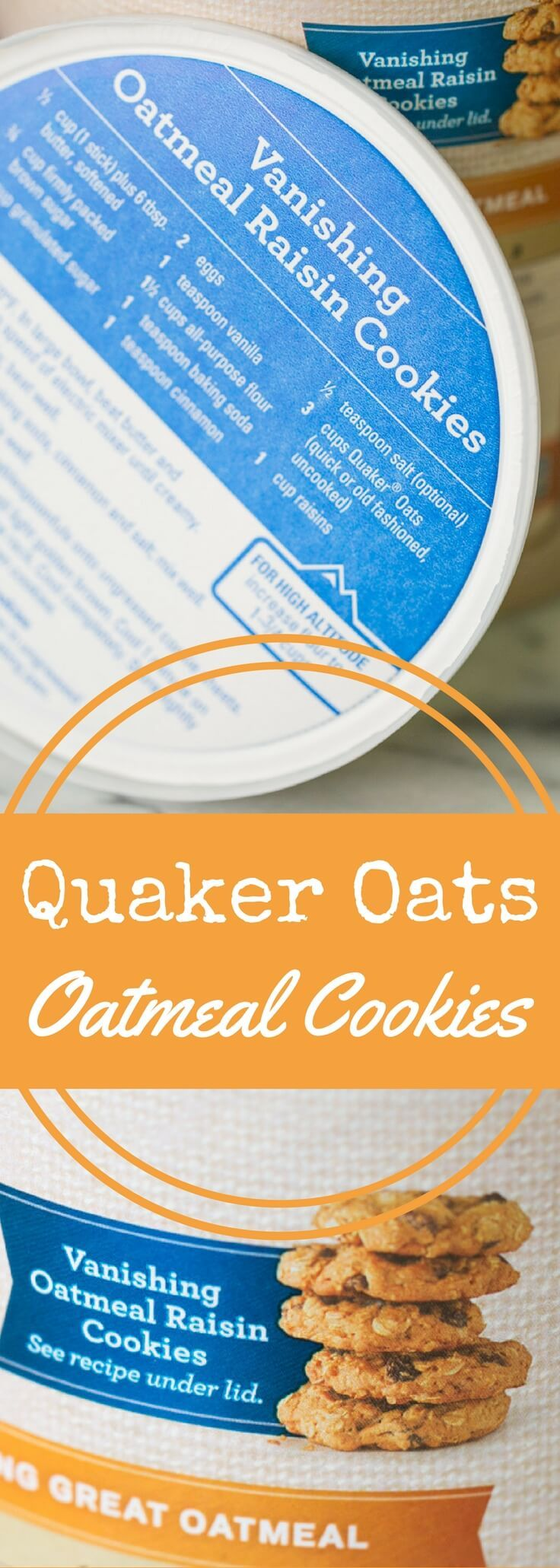 The classic Quaker oatmeal cookies recipe from the old-fashioned oats box or canister, plus tips for making these cookies perfect. via @recipeforperfec