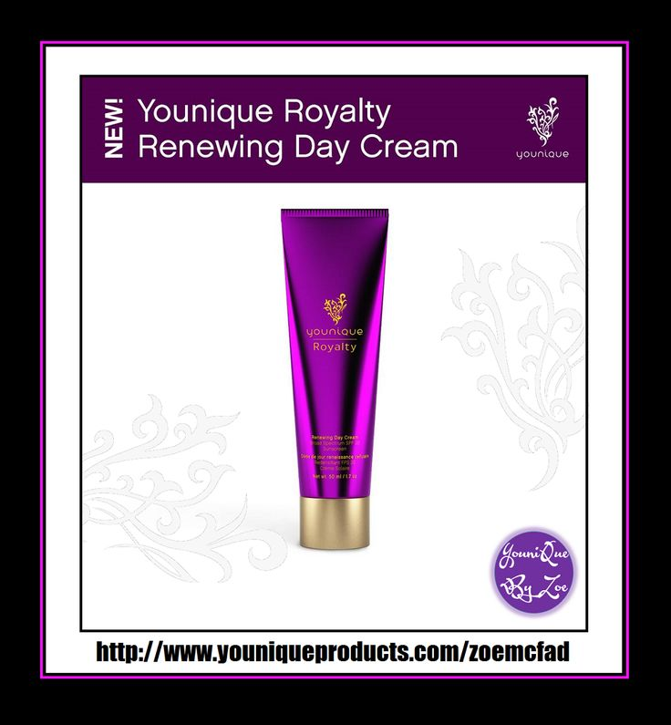 Royalty Renewing Day Cream Regulate and balance your skin with a light, silky moisturizer Renew the elegance of your skin with a silky-smooth moisturizer created for combination or normal-to-oily skin. SPF 20 shields your skin from the sun while plant extracts, vitamins, and antioxidants nourish and moisturize. #YOUNIQUE #australia #newzealand #germany #spain #france #canada #usa #uk #mexico #hongkong #beauty #makeup #skincare
