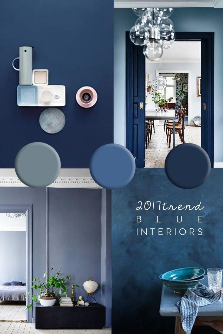Cool Indigo Interior Design Farben Innen Schlafzimmer