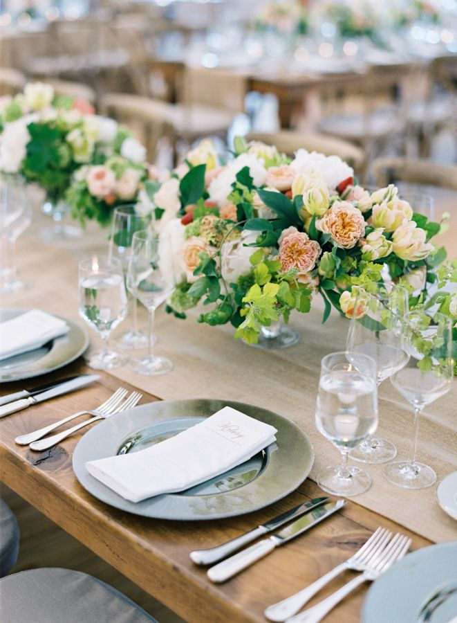 Elegant spring tablescape: http://www.stylemepretty.com/2016/06/13/california-spring-meadow-wedding/ | Photography: Jose Villa - josevilla.com