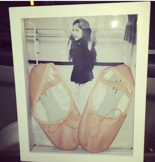 1st ballet shoes shadow box