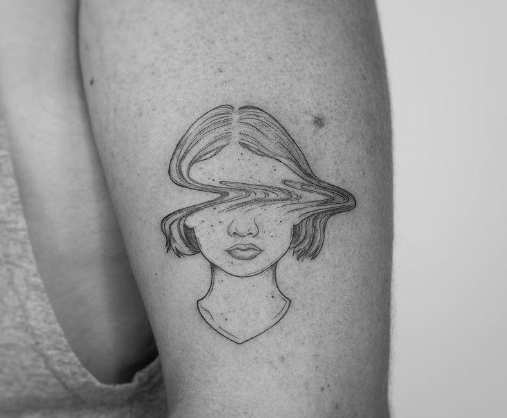 Fine Line Tattoo von Jessica Joy #tattoo #tattoodesign #tattooideas #tattoofrauen …