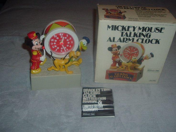 Mickey Mouse Parade Bradley Talking Alarm Clock w/Box,Fully Functional,Original.