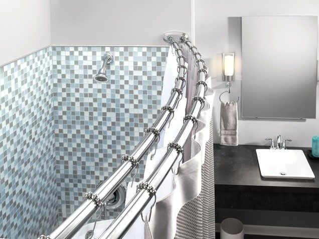 Above The Curve A Simple Switch From Straight To Curved Shower Rod Can Be  An Easy