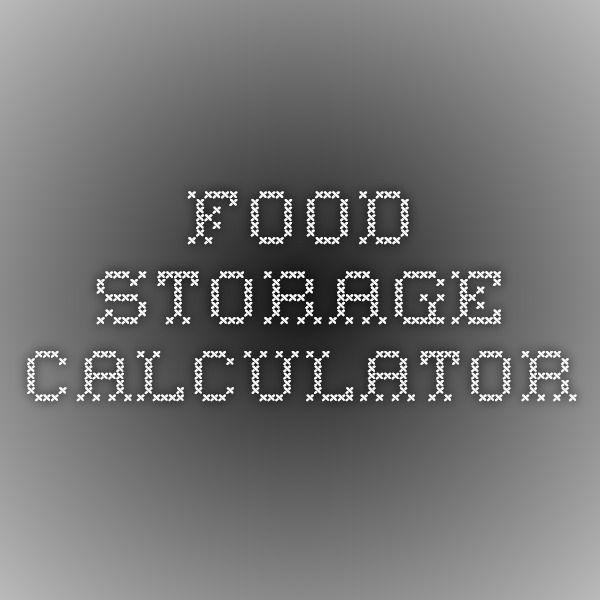Food Storage Calculator