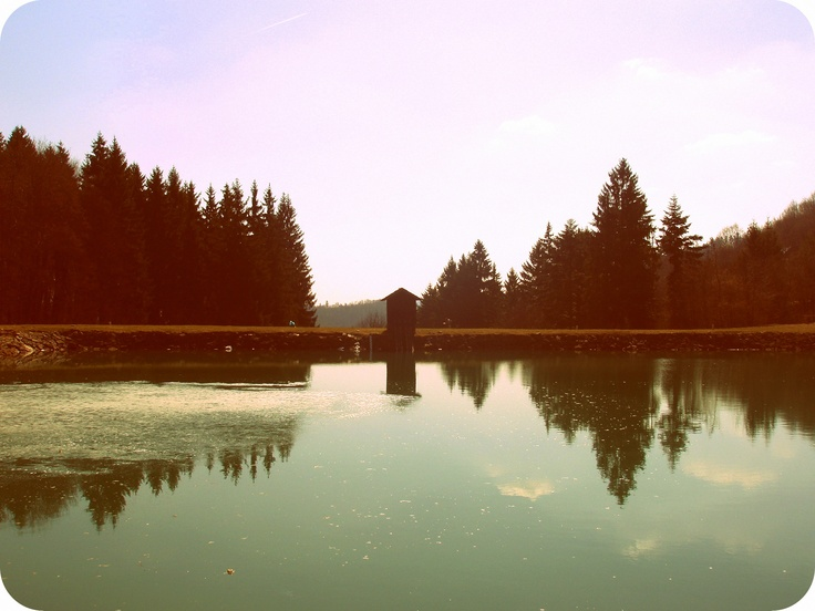 Banska Stiavnica ,Slovakia,  tajch Vodarenska (lake )