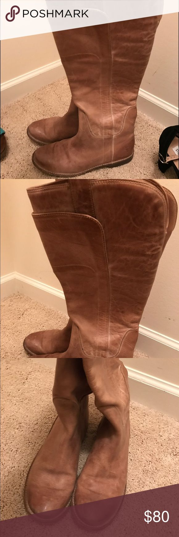 FRYE Paige women's riding boots These boots are great and so comfortable! Very worn in but still in good condition. Size 6 Frye Shoes Winter & Rain Boots