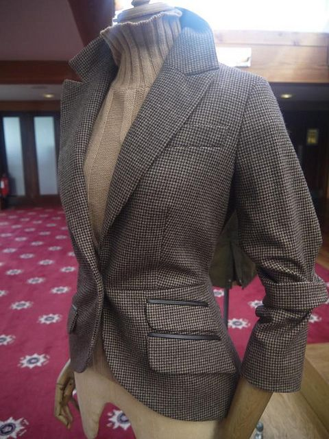 My kind of jacket. This tailored tweed piece is from Amanda Harlech's first collection for Barbour
