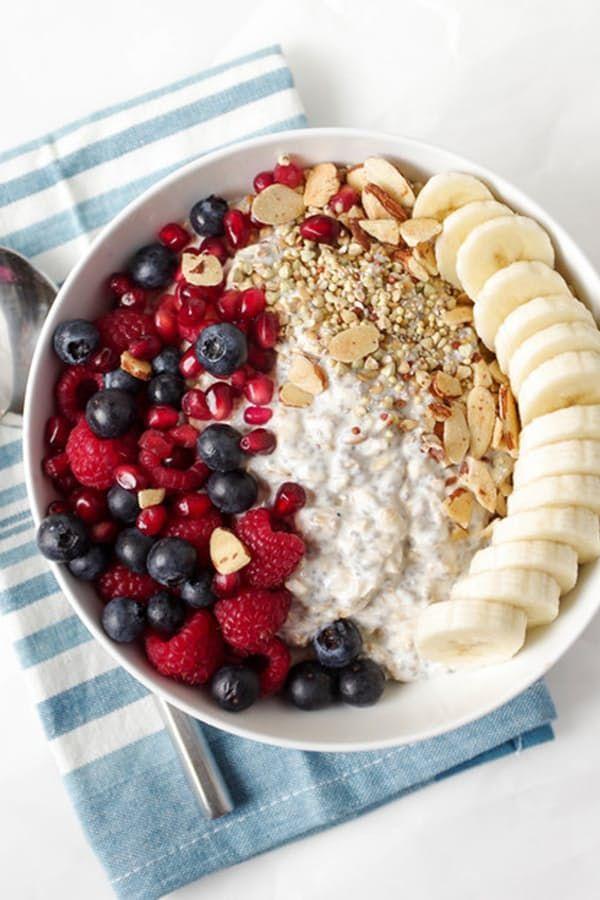 15 Healthy Buddha Bowls Even Kids Will Love via @PureWow -- vanilla overnight oat bowl