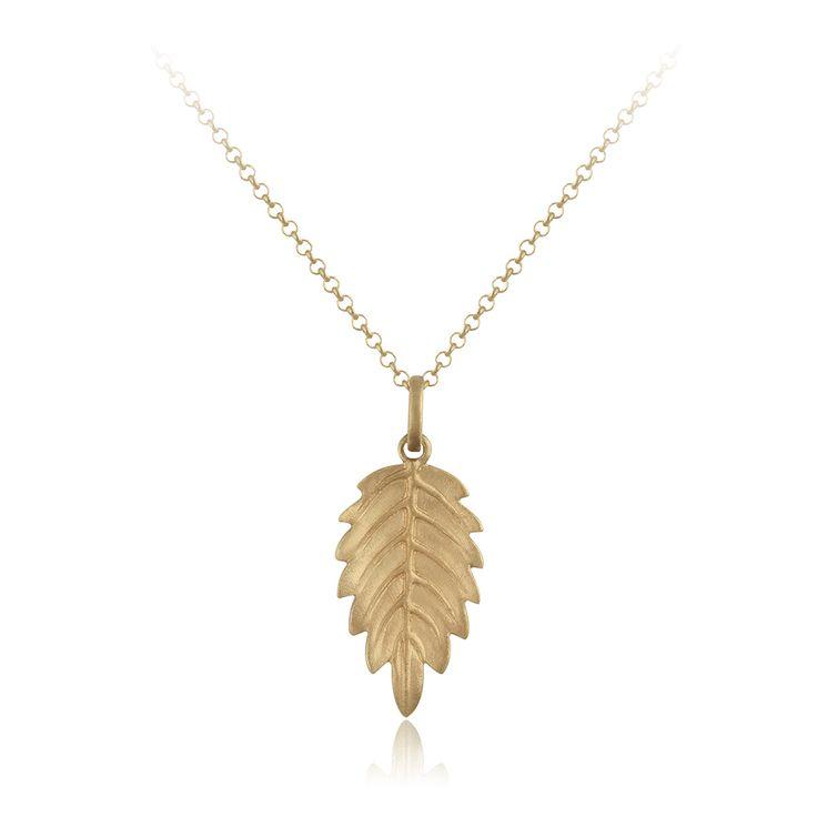 Myth Necklace. Sand blasted 14 karat yellow gold.