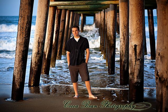 Senior Portraits Virginia Beach- pier repetition by mojomoni- Cocoa Bean Photo, via Flickr