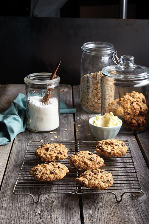 Biscuits à l'avoine et aux raisins secs - Châtelaine