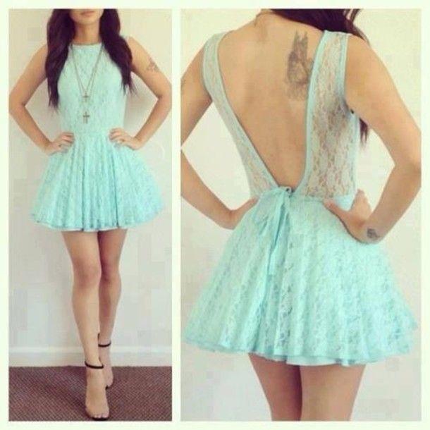 vestidos azuis de renda rodado - Pesquisa Google