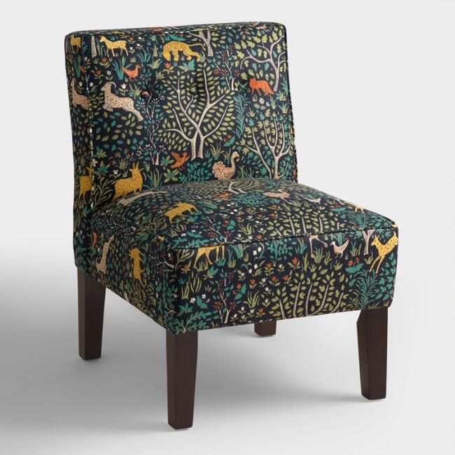 Folkland Randen Upholstered Chair with Wood Legs - World Market