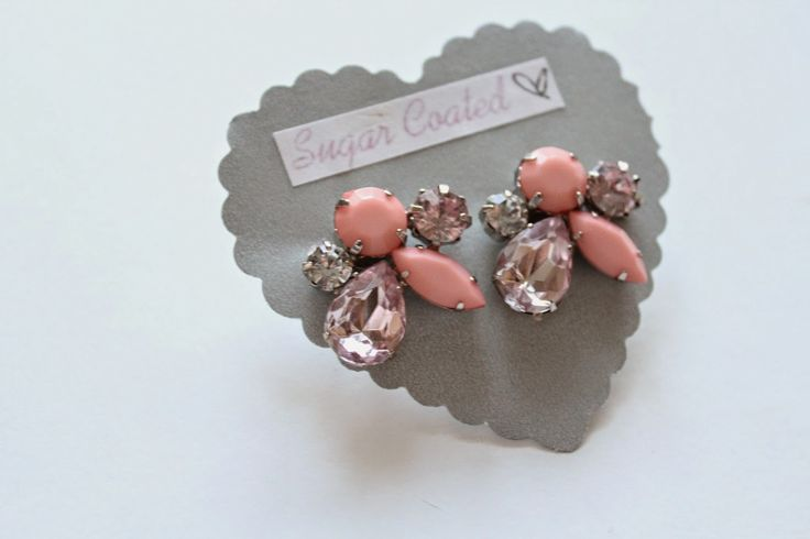 Recently featured in my September Favourites on www.pinkswatchesandgoldwatches.blogspot.com -- Sugar Coated Pink Crystal Cluster earrings! So beautiful for Fall and only $15