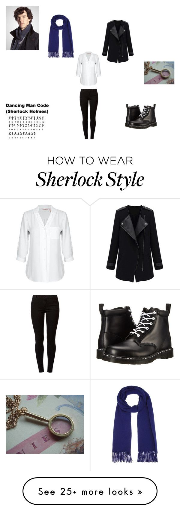 """Female Sherlock Holmes"" by katmccreery on Polyvore featuring Acne Studios, Dorothy Perkins and Dr. Martens"