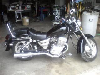 Just Fun: Mine is a 250 Hensim, I sure do love it. It looks cool, lightweight, easy to handle, black and chrome with saddle bags and handle fringe. Looks like a