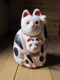 八郷の日々: 多摩張り子の招き猫
