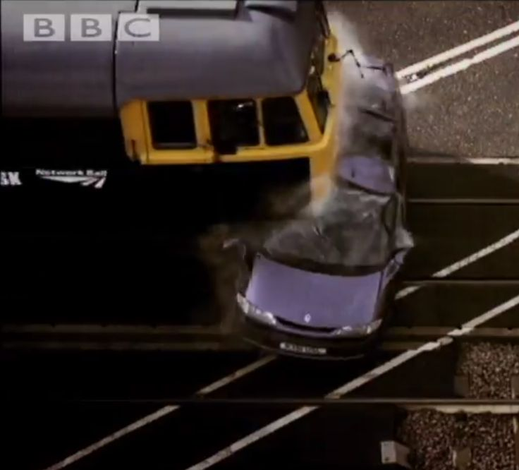 Pure Destruction! #TopGear Use A Train To Completely Annihilate A Car! The slo-mo is mesmerising! Hit the pic to watch the video. #wtf