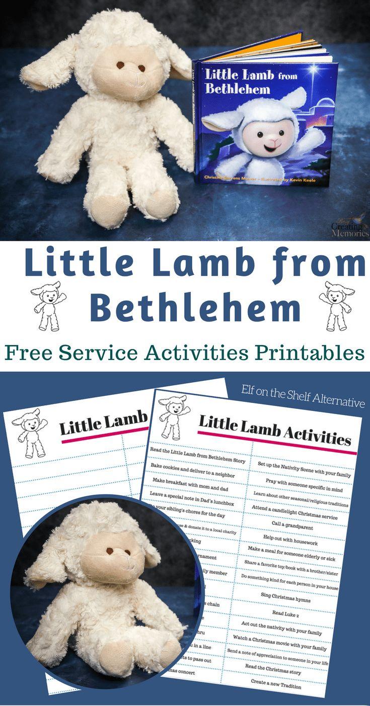 Little Lamb of Bethlehem - Christ Centered Elf on the shelf alternative