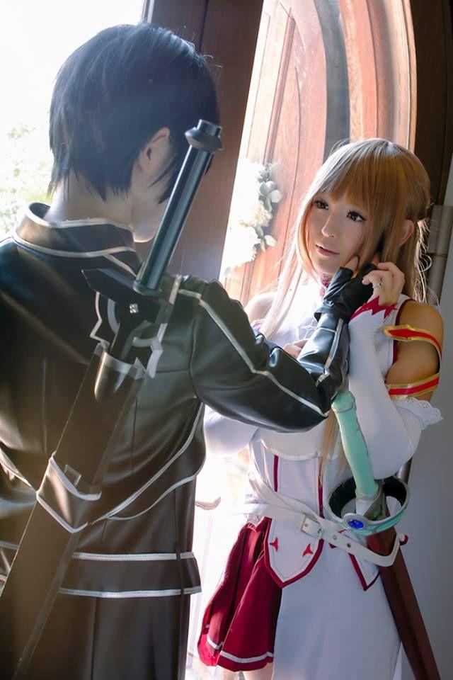 Kirito and Asuna. Sword Art Online