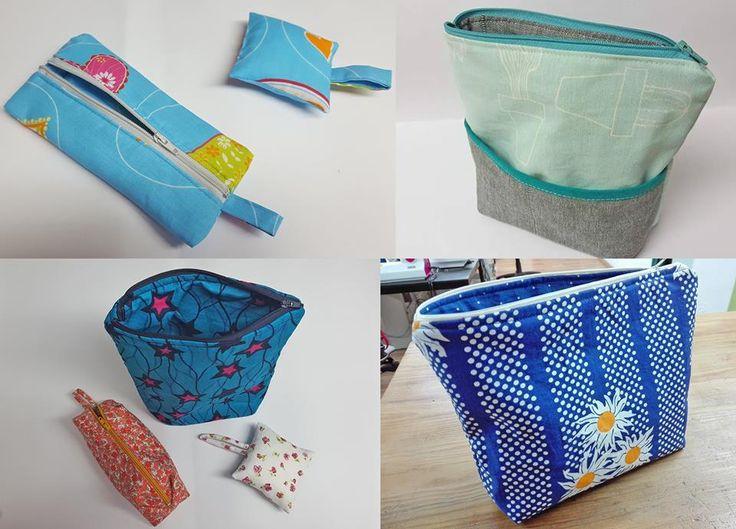 Estojos, almofadas para alfinetes. Entusiasmados projectos de iniciação à Costura . Escola Costura Traços e Pontos