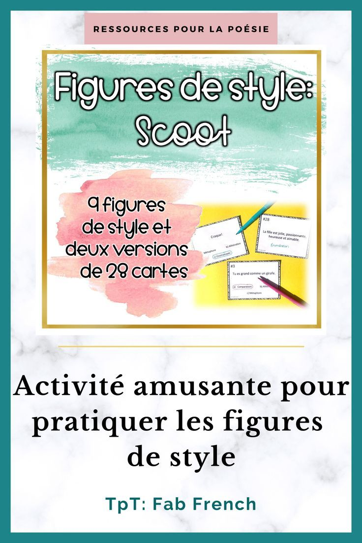 Parallélisme Figure De Style Exemple : parallélisme, figure, style, exemple, Poésie:, Figures, Style, Cartes, Scoot, French, Teaching, Activities,, French,, Activities