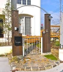 「木製 門柱」の画像検索結果