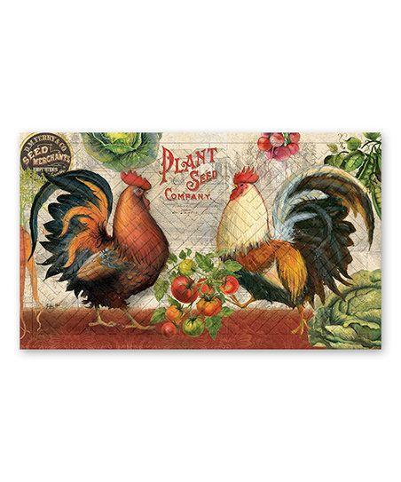Farm Rooster Door Mat   zulily