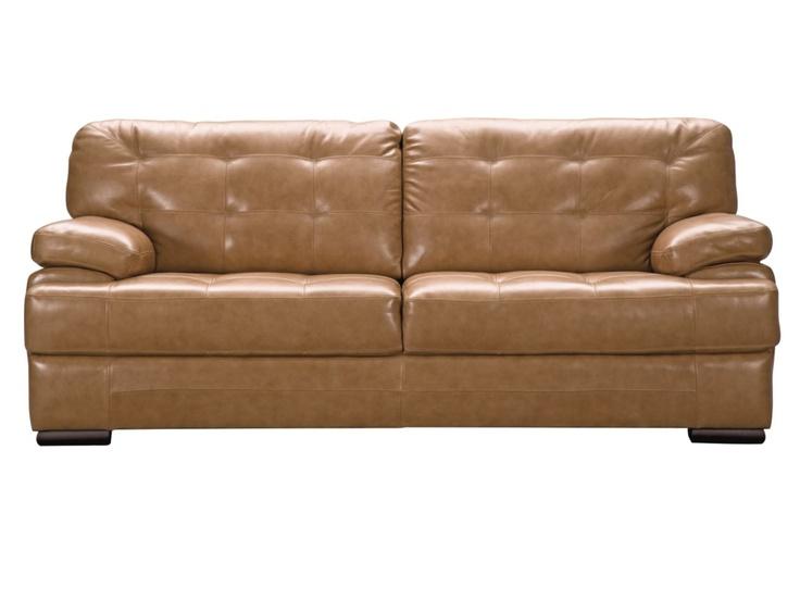 Fancy Sarasota Toffee Leather Sofa