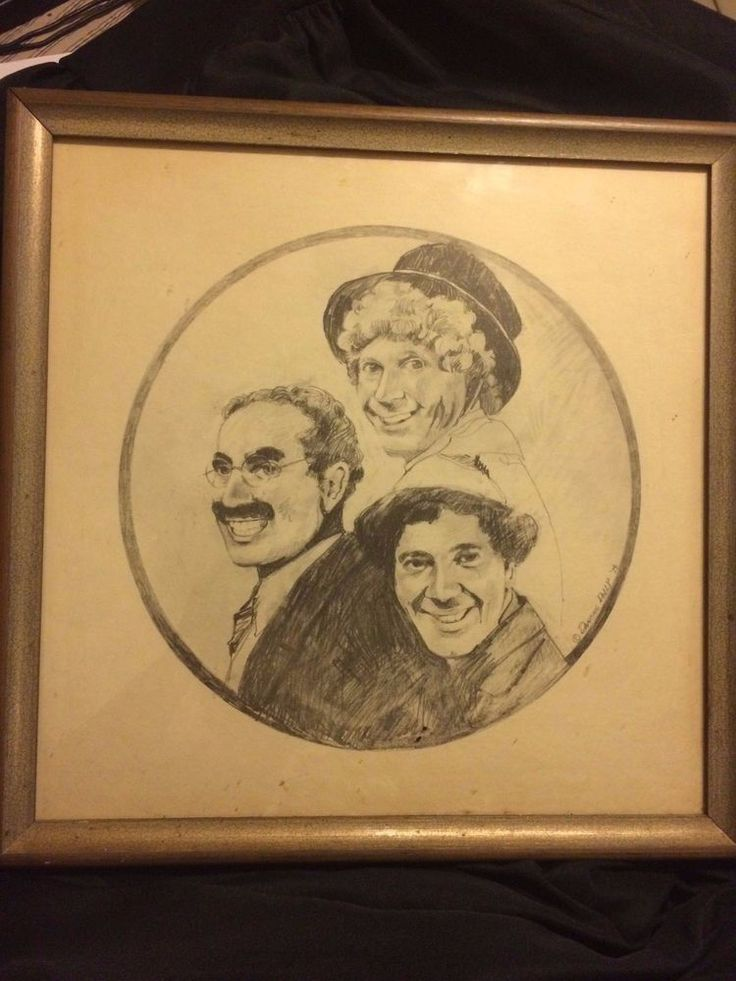 Vintage Marx Brothers Dancing Dolly Charcoal By Mary