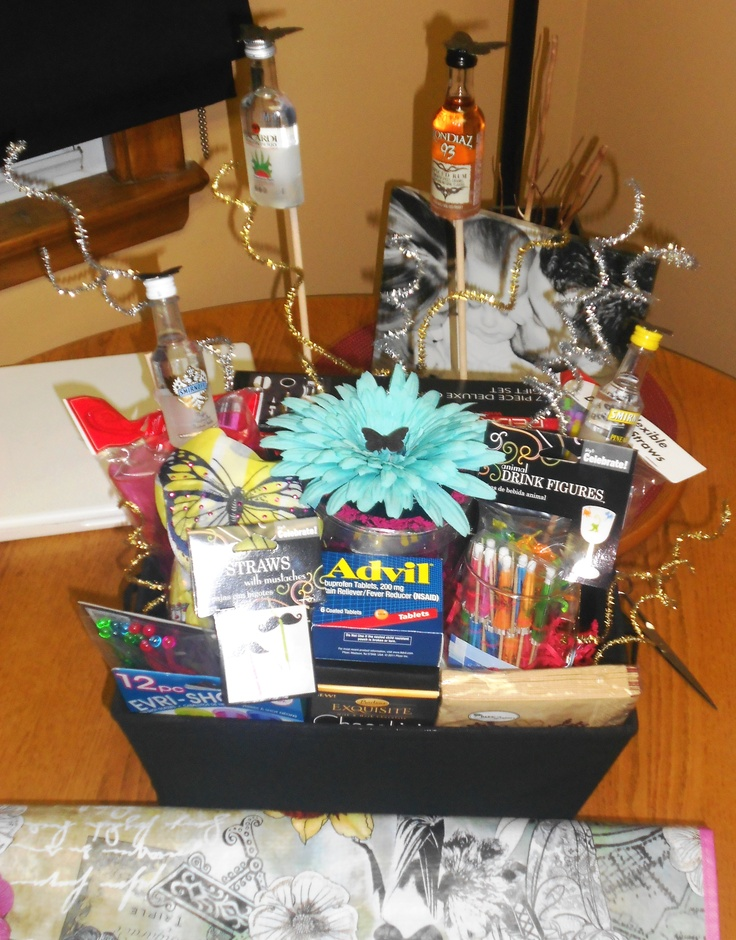 21st Birthday Gift Basket Alcohol : Best mini bottle wine liquor ideas images on