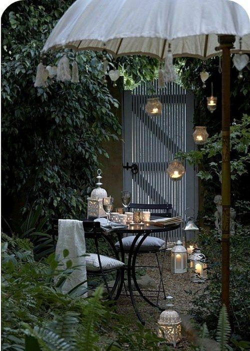 Windlicht Laterne Garten gestalten Ideen basteln Metall
