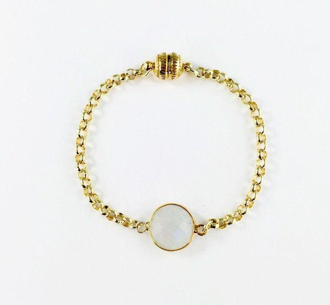 """""""Julia"""" Armband Gold mit Mondstein"""