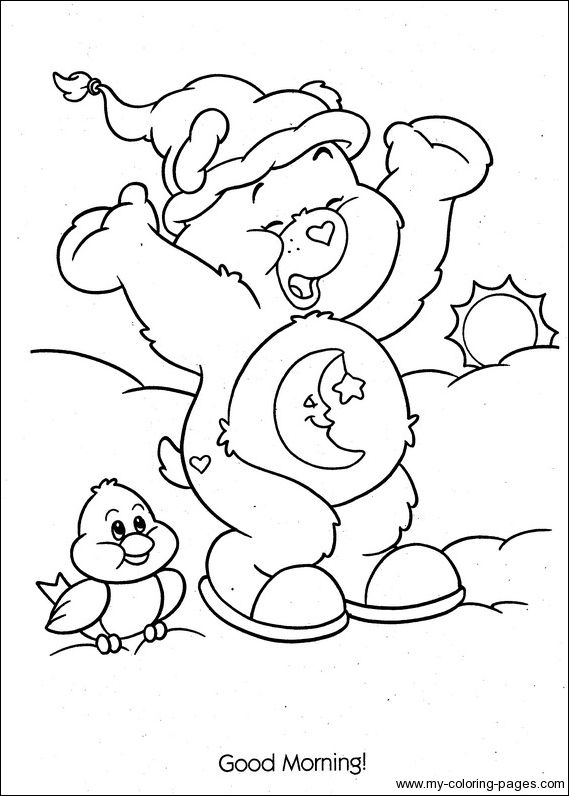 Bedtime Bear Coloring Pages Free