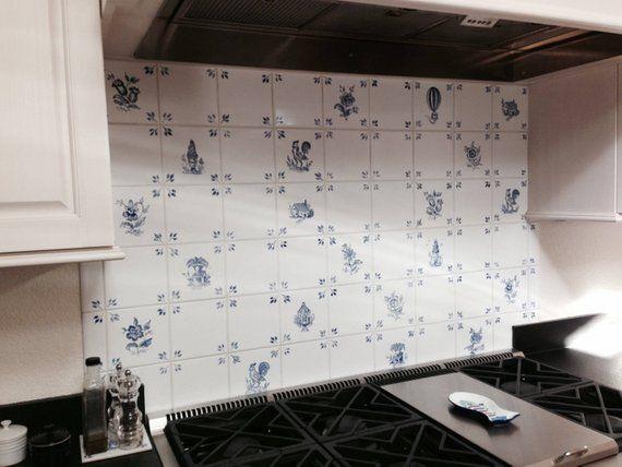 Delft Handpainted Ceramic Tiles