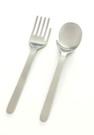 glove fork and mitten spoon. <3