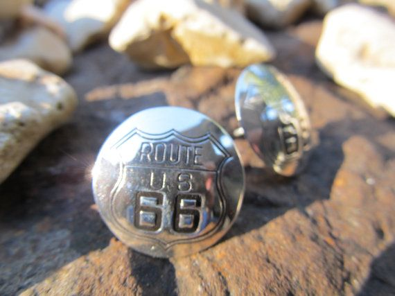 Memorabilia of Times Past Route 66 Highway Post by FayWestDesigns, $21.00